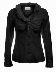 Black Romantic Ruffle Shirt - by Sally Allen