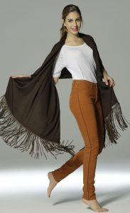 CashmerePashmina with Suede Tassels