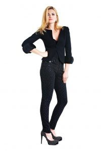 Gina Jet Black Diamante